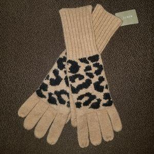 NEW! JCREW Leopard Gloves